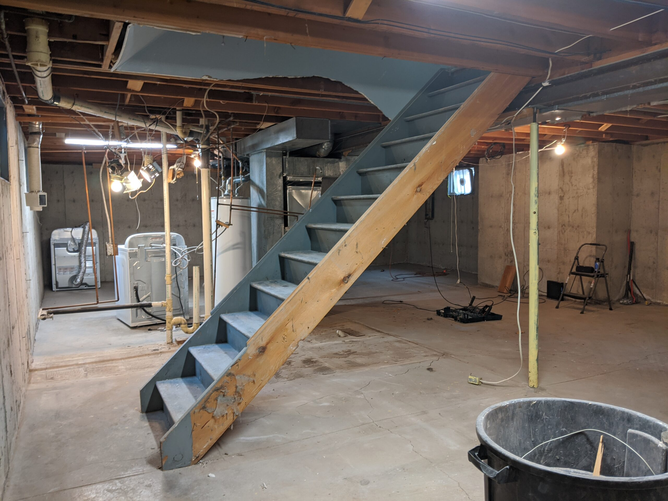 Moving the Stairs Maximized Our Space